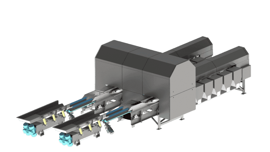 Optical sorting, potato sorting machine of Marcelissen