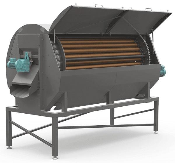 Trommel Rollenschrappmachine - SKR, ein elektrischer Kartoffelschäler